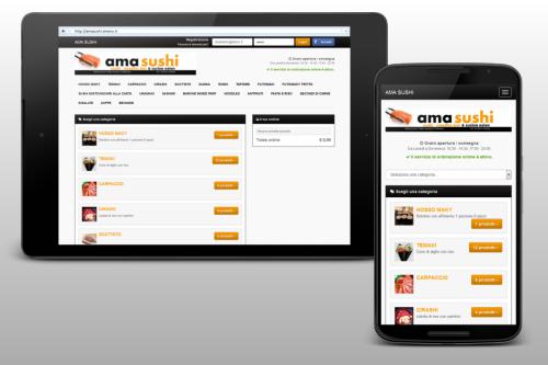 tablet e smartphone con app personalizzata